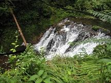 2段の滝上