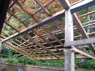 竹そうめん屋根①